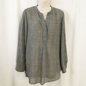 Theory Orvinio Pinedale Blouse Shirt Wool